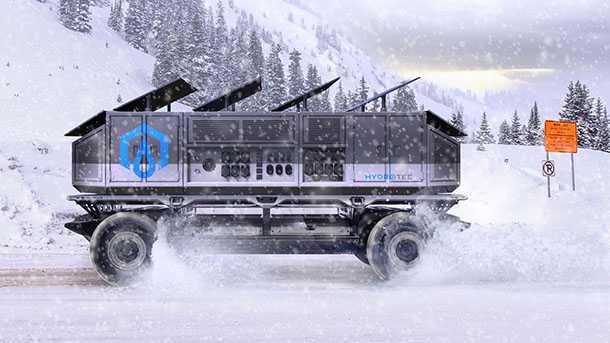 GM סורוס כלי רכב מבצעי לשטח עם הנעת תאי דלק/חשמל ויכולת אוטונומית מלאה. מבנה מודולארי מאפשר התאמה של מודולים לכל משימה. כאן עם גנרטור נייד. צילום: GM