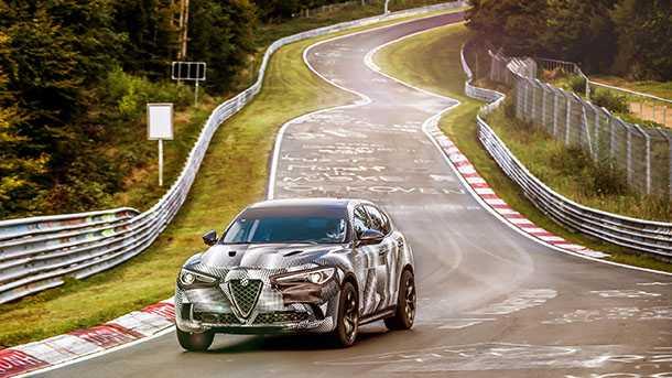 """אלפא רומאו קוואטרופוליו קובעת שיא מסלול ל-SUV בנורבורגרינג. צילום"""" אלפא רומאו"""
