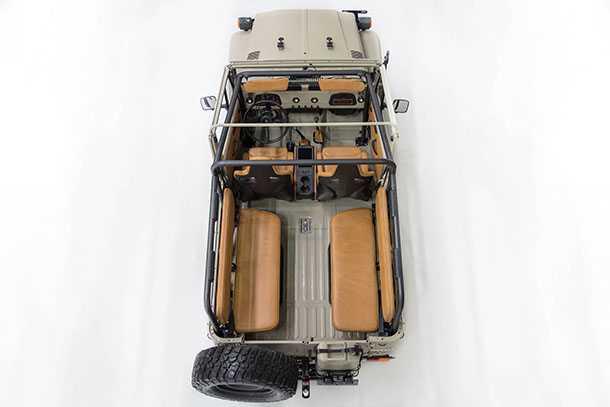 FJ קומפאני לקחה FJ משנת 1981 ושתלה בו מערכת הנעה מודרית של 4RUNNER ועוד הרבה פריטים וגדג'טים שיביאו את הקשיש לזמננו. צילום: FJ COMPANY