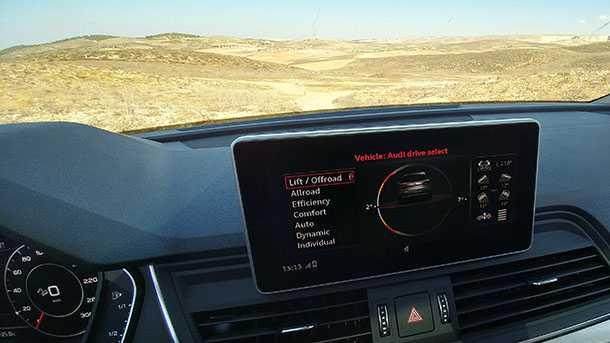 מבחן דרכים אאודי Q5 החדשה. פצצה של מכונית עפה ישר לראש הסגמנט - לא לוותר על מתלי האוויר. צילום: רוני נאק