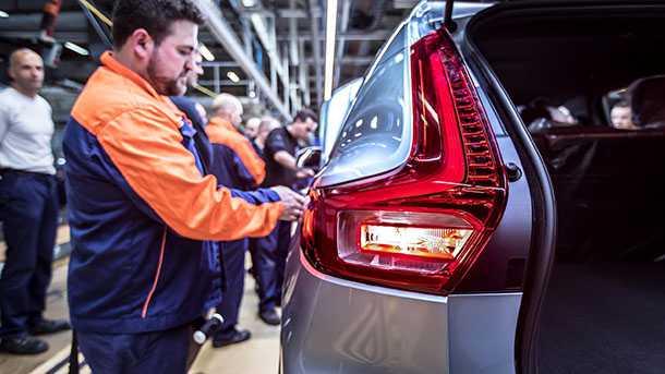 וולוו XC40 מתחילה יצור במפעל בבלגיה. רכב פנאי שטח קומפקטי בישראל בהמשך 2018. צילום: וולוו