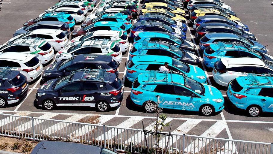 אוויס משכירה 250 מכוניות אשר הוכנו במיוחד למירוץ ג'ירו דאיטליה. צילום: אליקו