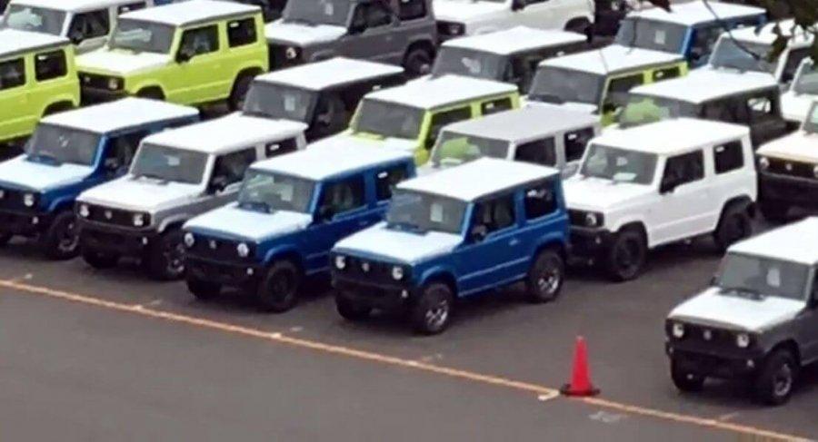 ראן ראשון של סוזוקי ג'ימני החדש כבר מוכן למשלוח במפעל סוזוקי יפן - מתי אצלנו? צילום:הממטסו
