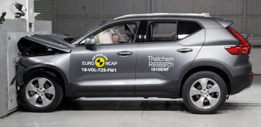 5 כוכבי בטיחות NCAP של וולוו XC40 החדש. צילום: NCAP