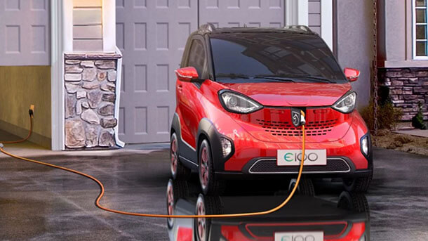 """Baojun-E100 זה השם. קונספט לרכב מיקרו חשמלי כמוהו יש עוד רבים בסין. זה בשת""""פ עם GM - האם אלו פני התחבורה החשמלית העתידית? צילום: GM"""