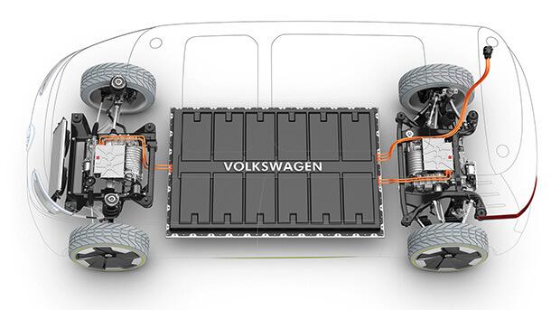 פלטפורמה חשמלית מודולארית - כאן של VW - תשרת בעתיד עשרות דגמים בכל מותגי הקבוצה. צילום: VW