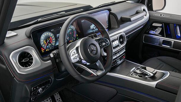 """זה ברבוס G500 ויש לו 500 כ""""ס וגם מתלים מעודכנים, חישוקי 23 אינץ' ופנים מאד משודרג. מחיר? פי שתיים ממחיר מרצדס G קלאס חדש סטנדרטי. צילום: BRABUS"""