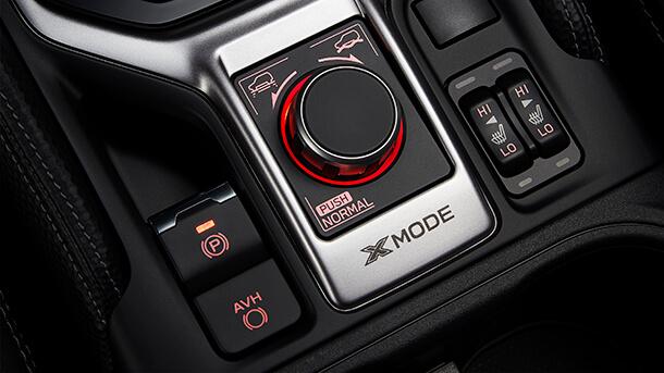 בורר X-MODE החדש. רק קצה הקרחון של מערך הנעה טכנולוגי מתקדם בקצות האצבעות של הנהג. צילום: סובארו