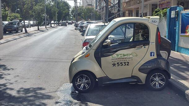 """חשמלית עירונית ליצ'י. עם טווח של עד 100 ק""""מ ומזגן מצויין אפשר ליהנות ממנה. המחיר: 40,000 שקלים. צילום: רוני נאק"""