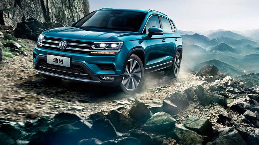 פולקסווגן מציגה לראשונה שני SUV המיועדים בלעדית לשוק הסיני. ת'ארו שבצילום הזה וטיירון שלמטה. צילום: VW