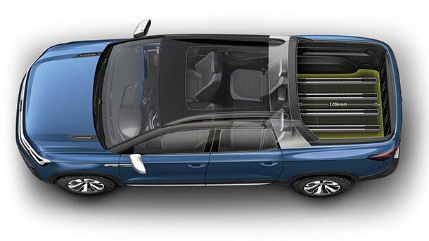 הנה הטנדר החדש והקומפקטי של הקונצרן - פולקסווגן TAROK עם בסיס של שלדה אחודה - MQB - ומנועי TSI ודיזל המוכרים מהקבוצה. יעשה צעדיו גלובאלית אחרי ההשקה הראשונית בברזיל. צילום: VW