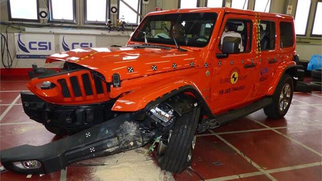 ג'יפ רנגלר החדש מקבל רק כוכב בטיחות יחיד ב-NCAP. צילום: NCAP