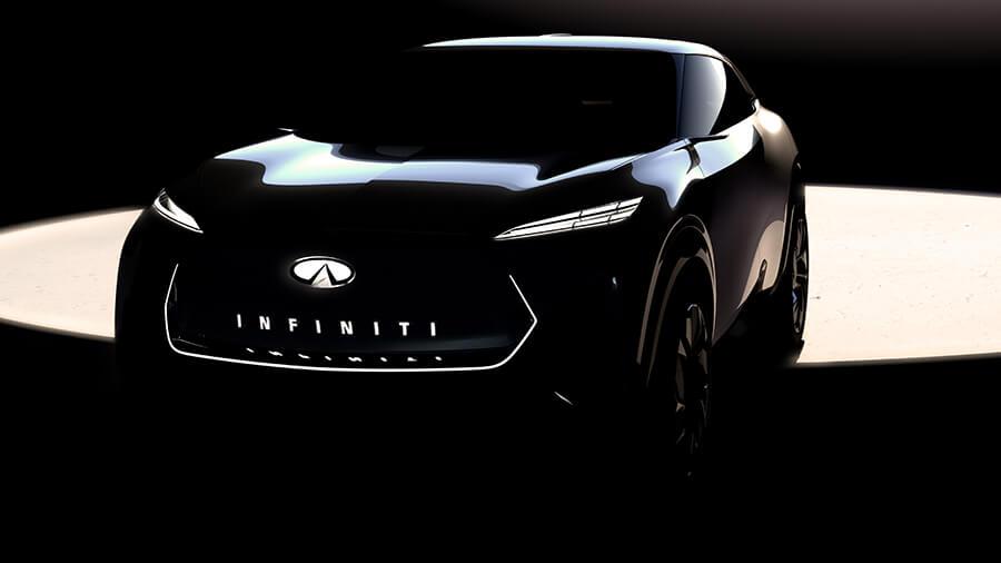 גם אינפיניטי בדרך ל-SUV חשמלי מלא. החשיפה בחודש הבא - בינתיים טיזר. צילום: אינפיניטי