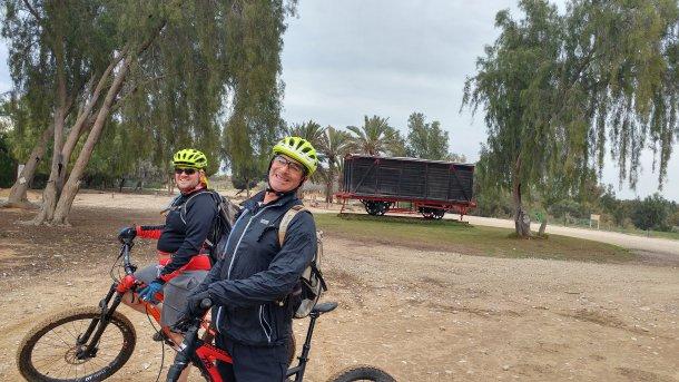 10 מעלות בפארק אשכול - קר אפרורי אבל לא רטוב - אפשר לרכוב. צילום: כרמית ארנרייך
