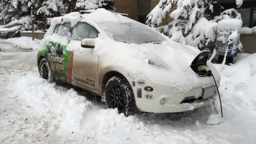 קר בחוץ? מתחת ל-6 מעלות טווח הנסיעה של מכונית חשמלית יתקצר בכמעט חצי. צילום: NSTV