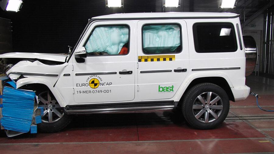 מרצדס G קלאס החדש מקבל 5 כוכבי בטיחות - גם בזכות מערכות הבטיחות האקטיביות. צילום: NCAP
