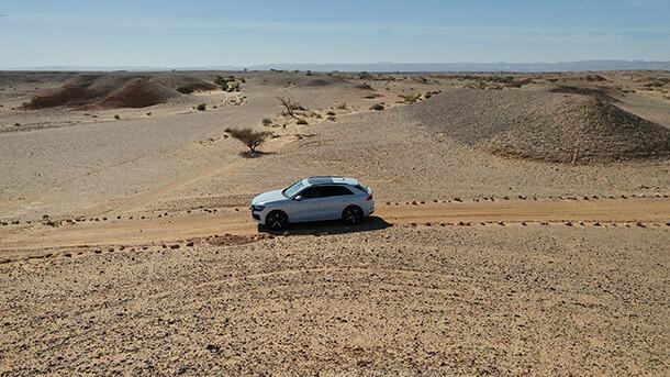 מבחן דרכים אאודי Q8. קופה-שטח-פנאי מהירה ומהודרת. 725 וחצי אלף שקלים. צילום: רוני נאק