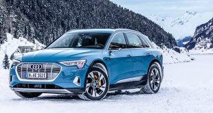 """Audi e-tron - נתוני הטווח הרשמיים לפי ה-EPA בארה""""ב עומדים על כ-330 קילומטרים. צילום: AUDI"""