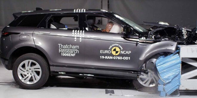 ריינג' רובר איווק החדש מקבל ציון מירבי במבחן ריסוק NCAP החדש. צילום: NCAP