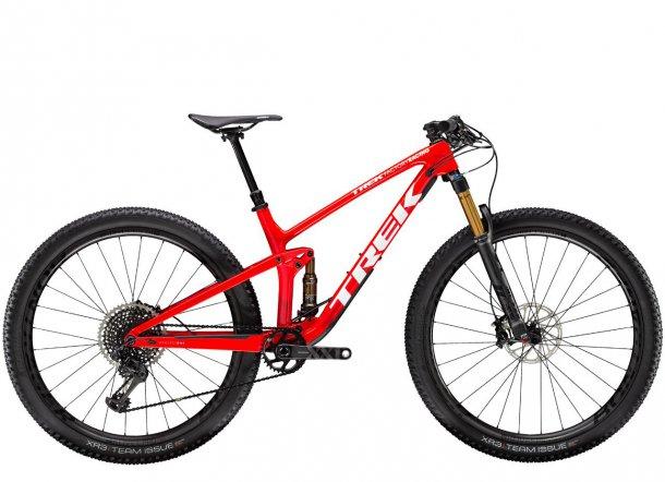 אופני TREK TOP FUEL מדגמי 2020. עם שלדה חדשה, מהלך מתלה ארוך יותר ומנעד שימושים רחב יותר. צילום: TREK