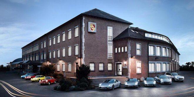 הנה בניין המטה של פורשה בשטוטגארט - מכאן יצא צ'ק של 599 מיליון דולרים לבית המשפט כקנס על שילוב מנועי דיזל מזהמים בדגמי פורשה. צילום: פורשה