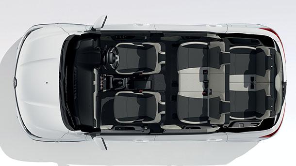 הכירו את רנו טריבר - הפתרון של רנו לרכב פנאי קומפקטי עם 7 מושבים לשוק ההודי. צילום: RENAULT