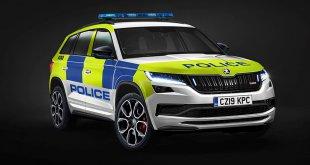 המשטרה בבריטניה מצטיידת בגרסת השרירים של סקודה קודיאק. צילום: סקודה