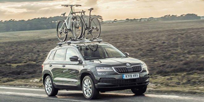 סקודה קארוק VELO - קונספט לרוכבי אופניים של סקודה בריטניה - הרחפן כלול כמו גם עמדת טיפולים. צילום: סקודה