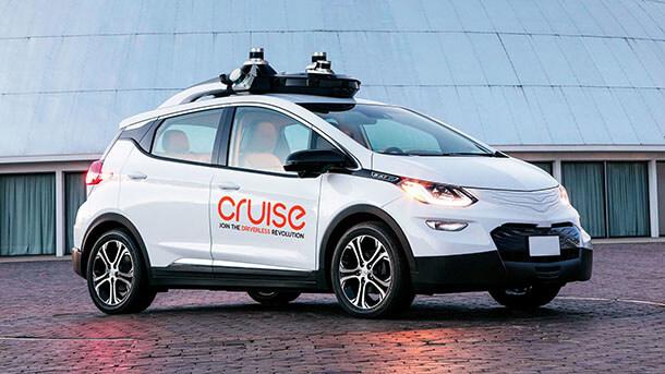 הנה קרוז אוטונומית - על הגג סורקי הלייזר. צילום: GM