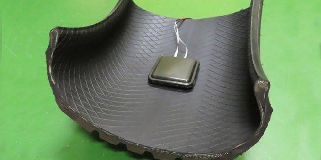 יצרנית הצמיגים סומיטומו הצליחה לפתח טכנולוגיה להפקת חשמל מצמיג מסתובב. צילום: סומיטומו