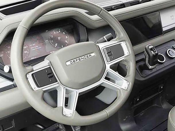 לנד רובר דיפנדר 110. יגיע לשוק במרץ 2020 עם גרסה היברידית ו-5 רמות איבזור. צילום: טוויטר