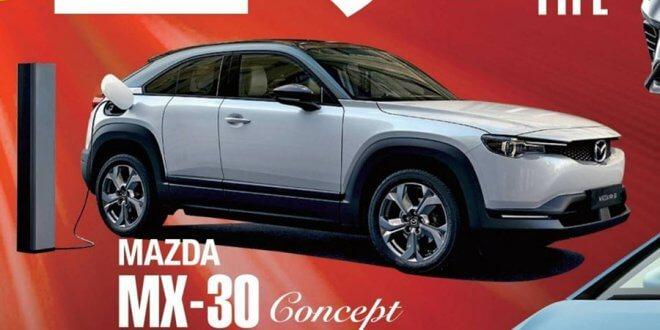 קונספט של רכב כביש שטח חשמלי חדש של מאזדה MX-30 נראה בשל ליצור. צילום: CS